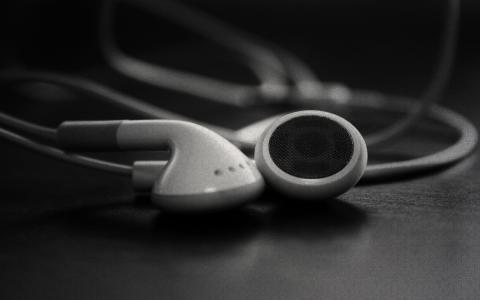 宏,耳机,堵嘴,在耳朵里