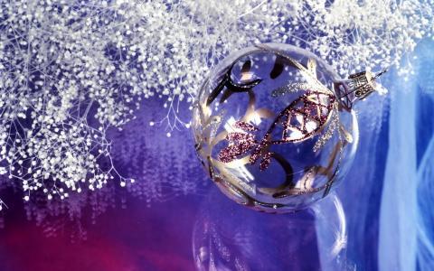 图片,球,透明,新的一年