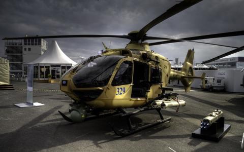 直升机,枪,飞,建设