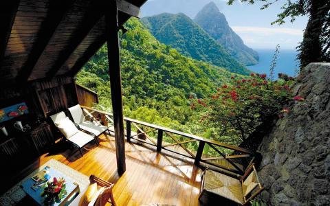 家和安逸,热带,高山,美丽