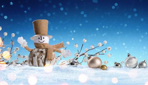 假日,新年,圣诞节,装修,冬天,雪,雪人,玩具,球