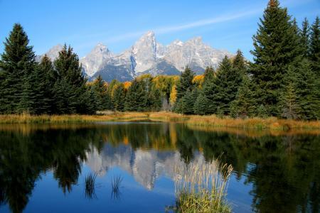 水,山,森林,天空,大自然,宽屏