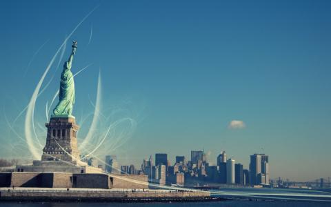 自由女神像,纽约,自由女神像,启迪世界的自由