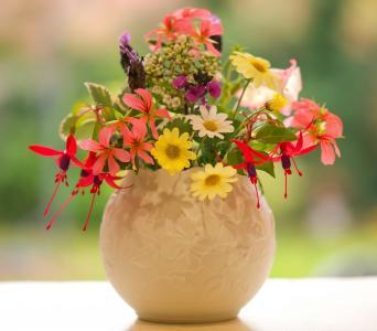 花束,花瓶,对象