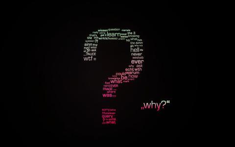字母,单词,极简主义,壁纸,问题,艺术,背景