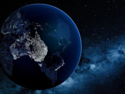 行星,蓝色,空间