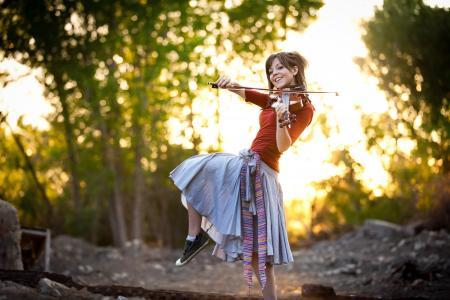 女孩,小提琴,演奏,音乐