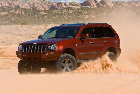 吉普车,沙子,天空,路,沙漠