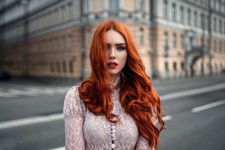 亲照片,Georgiy Chernyadiev,红发,构成,城市
