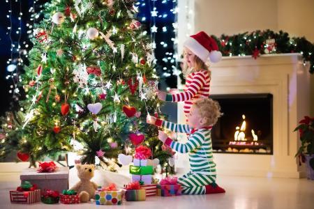 孩子,枞树,假期