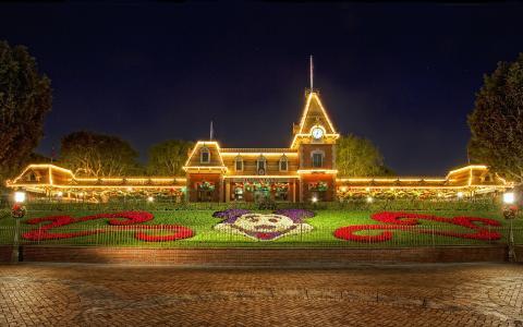 迪士尼乐园,圣诞节,迪士尼乐园,圣诞节