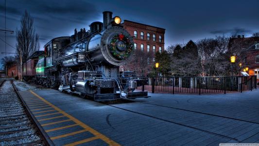 机车,移动,铁轨,城市