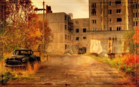秋天,鬼城,普里皮亚季