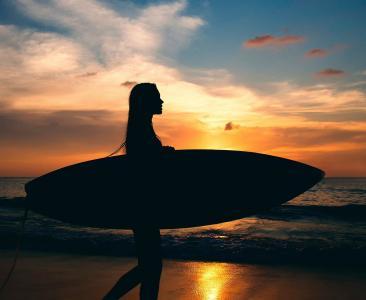 运动,董事会,冲浪,黑暗的背景,海洋,亲照片,MAVRIN