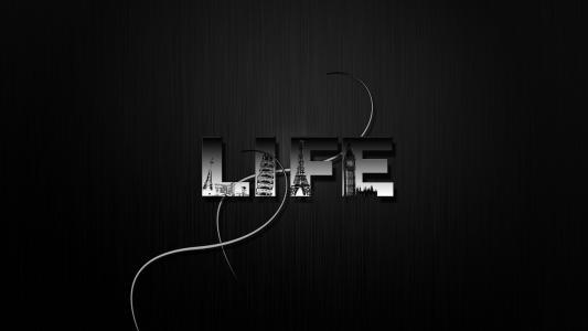 极简主义,极简主义,黑色风格,题字,生活