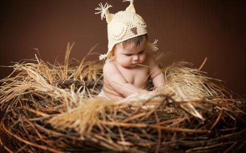 巢,孩子,帽子,苏联