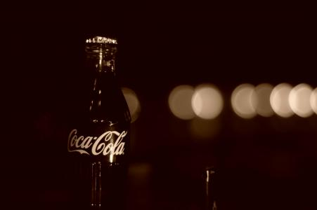 瓶,棕褐色,玻璃,可口可乐