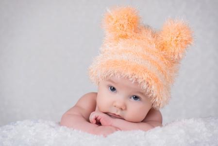 宝贝,宝贝,宝贝,帽子,绒球