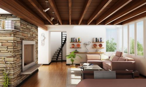 设计,别墅,室内,客厅,风格,房子