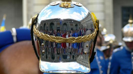 头盔,反射,游行,散景,瑞典