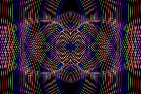 线条,颜色,交集