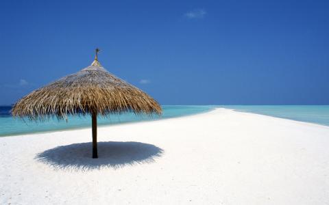 自然,沙,海洋,美丽