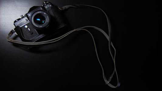 天顶,相机,黑色,背景