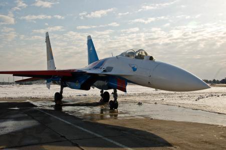 苏-27,战斗机,俄罗斯骑士,飞机