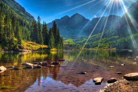 山,自然,湖,森林,超级照片,钓鱼,极端,放松