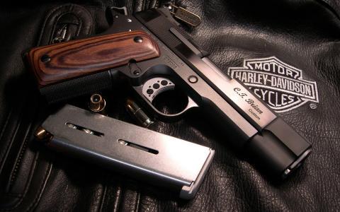 枪,手枪,火,战争
