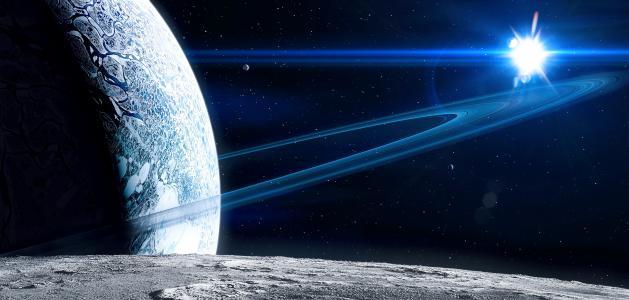 星,空间,环,星球,表面
