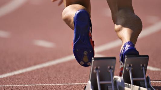 跟踪,锁,肌肉,跑步,腿,运动鞋,体育场