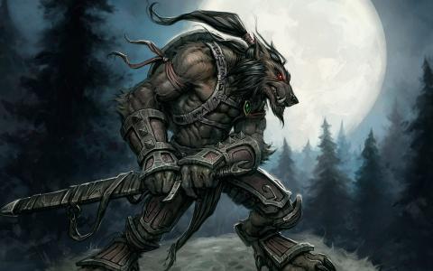 魔兽世界,狼人,战士,狼人,月亮,月亮