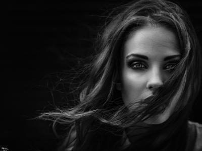 乔治Chernyadiev,亲照片,黑暗的背景,阿拉,构成