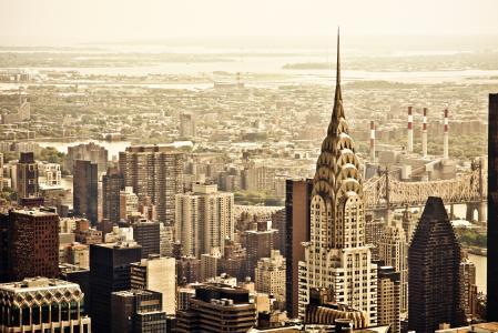 纽约,纽约,纽约,纽约,美国,美国,曼哈顿,曼哈顿,克莱斯勒大厦,克莱斯勒大厦,皇后区大桥,皇后区大桥,城市,全景,视图,摩天大楼,建筑,房屋,屋顶,摩天大楼