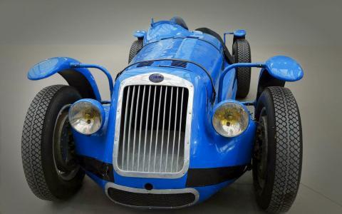 汽车,复古,蓝色,展览。