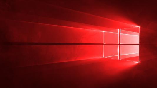 红色,窗户,windows10