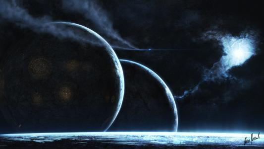 星,空间,发光,艺术,星云,行星
