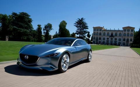汽车,马自达,超级跑车,概念,性质,太阳,金属