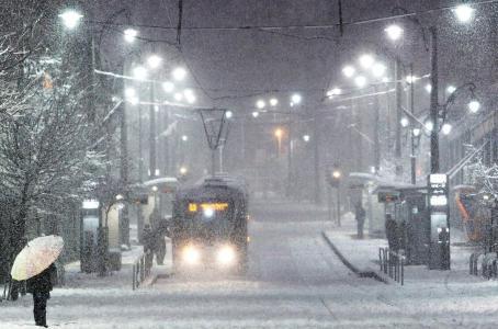 城市,冬天,雪,美丽