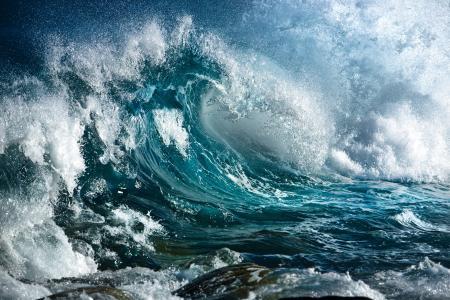 海,喷,水,波,缤纷的性质