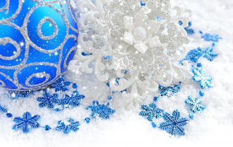 圣诞节,新年,假期,圣诞节,球,新的一年