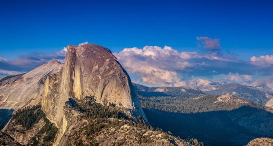 优胜美地国家公园,山,岩石,美丽,大自然