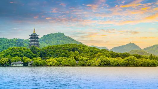 杭州西湖美丽的风景