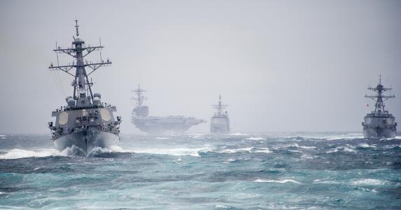 乔治·布什,航母,舰船,波浪,风,海军,美国