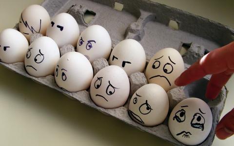 情绪,恐惧,眼泪,鸡蛋,盒子