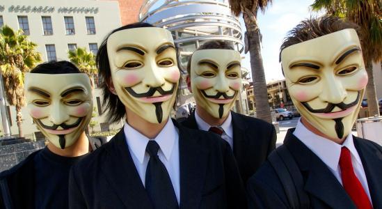 匿名,面具,微笑,黑客,分组