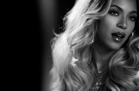 碧昂丝,歌手,黑白混血,金发,黑色和白色背景