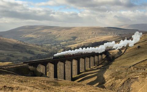 火车,火车,火车,火车,桥,美丽