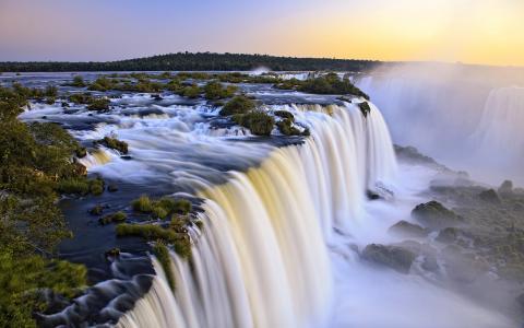 瀑布,阿根廷,巴西